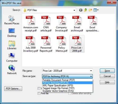 Win2PDF screenshot