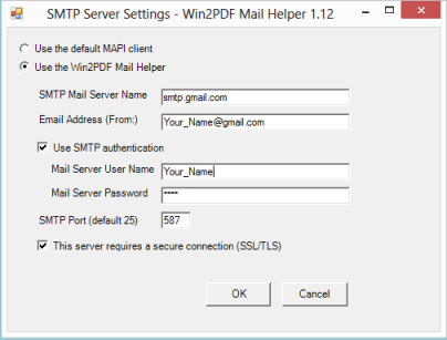 How to configure the Win2PDF Mail Helper Utility