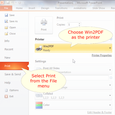 how to convert a microsoft powerpoint 2010 ppt to pdf