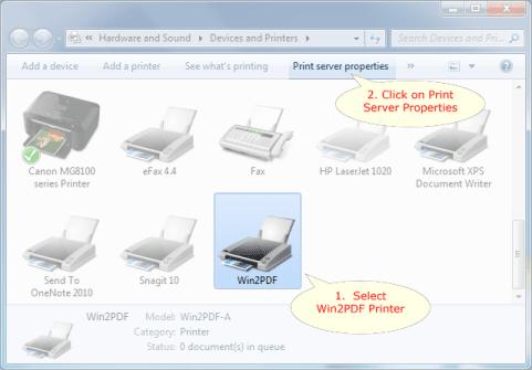 Custom paper size printer windows 7