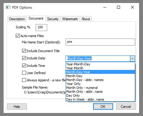 PDF Auto-name: Include Date