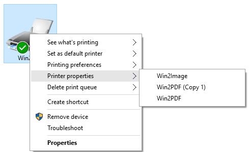 Adding a Win2PDF Printer